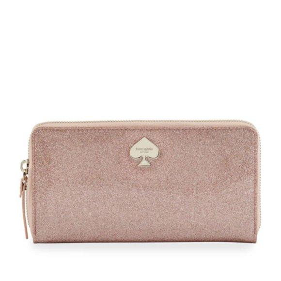 Kate Spade Pink Glitter Wallet